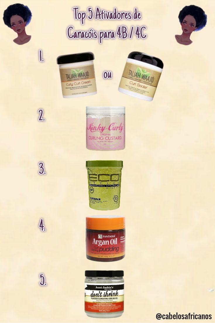 Top Ativadores de Cachos para o cabelo tipo 4B e 4C. Finalização para cabelos tipo 4B e 4C.