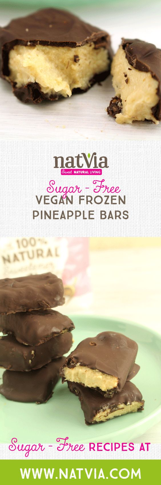 Sweet sweet #pineapple  You've had it straight from the can, on top of your pizza and now in our delicious refined #chocolate  #chocolate bar!  You'll love the tropical-infused flavour, ice-cold and perfect for #summer! Give this #Vegan #Frozen #Pineapple Bars a go and let us know what you think in the comments below!  - Ingredients - 1 cup cashews 60g sugar-free vegan #cookies ¾ cup fresh pineapple, diced 2 tbs Natvia 200g sugar-free milk or dark #chocolate