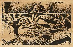 Scroll saw pattern 045-ducks