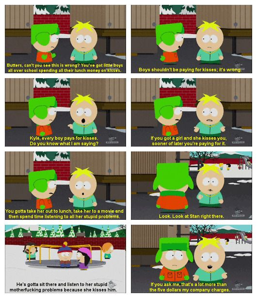 South Park on relationships.