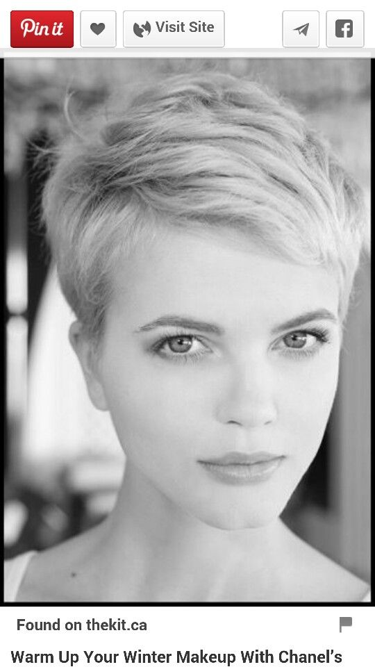 Nice side swept pixie cut