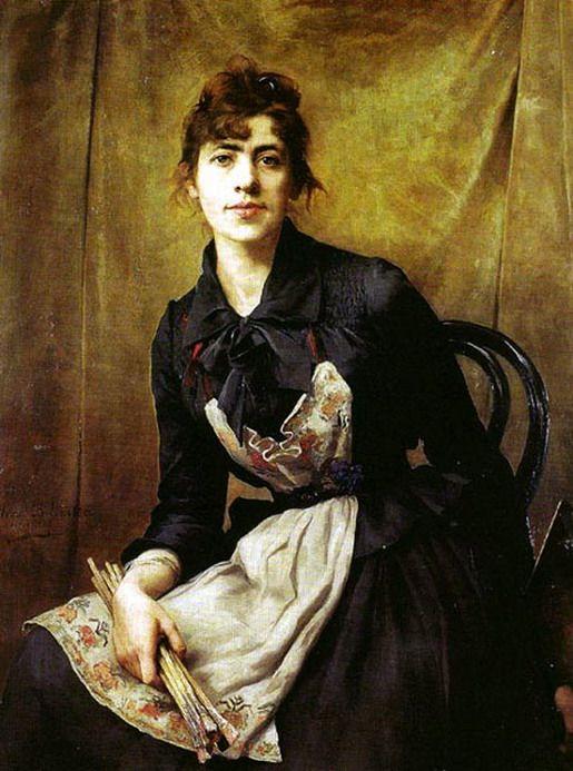 Self-portrait Anna Bilinska-1857-1893