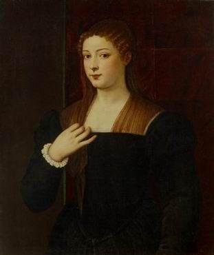 Giulia Gonzaga by Titian (Tiziano Vecellio, 1490-1576) http://www.pinterest.com/kitemeister/tiziano-vecellio-titian/