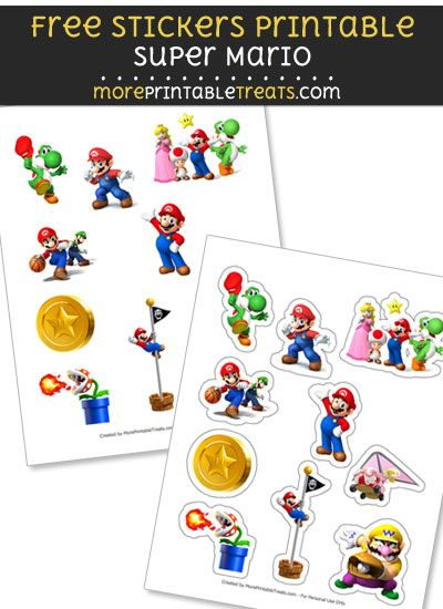 free mario bros stickers printable to print at home super mario rh pinterest com