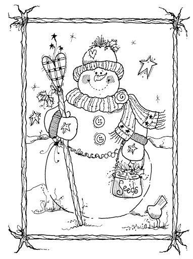 Stitch This Cute Snowman