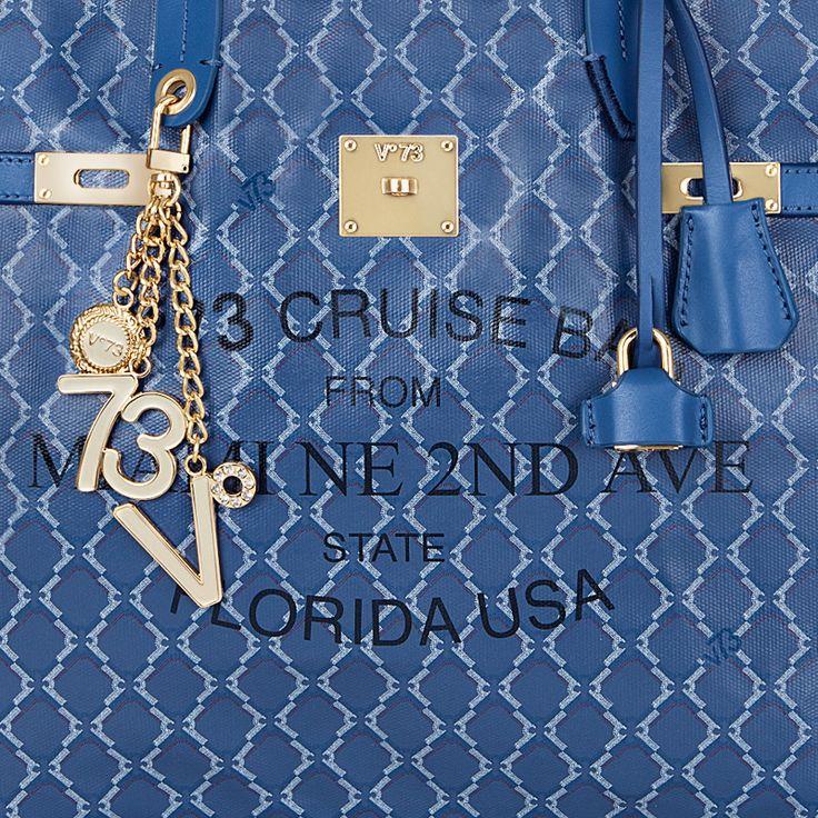 #V73 Miami Bag Blue #Shop now on https://www.v73.us/borse-shopping/miami/329-miami-bag-small-orange
