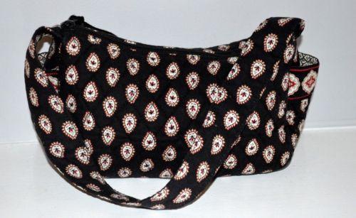 Vera Bradley Hobo Classic Black Zip top Handbag Purse