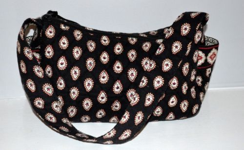 Vera Bradley Hobo Classic Black Zip top Handbag Purse