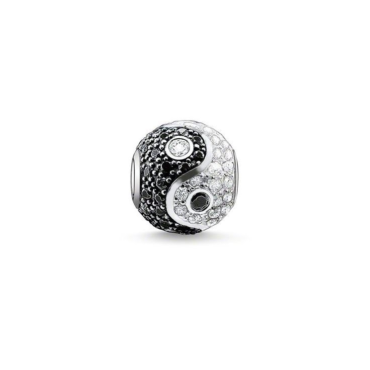 Thomas Sabo Women-Bead Karma Beads 925 Sterling Silver blackened Zirconia black Onyx K0131-641-11 fvM2Jqf8W