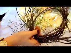 DIY:BLUMEN-Werkstatt, KRANZ binden für Vase,Strauß und zur DEKO binden ,wickeln ANLEITUNG ,Upsycling - YouTube