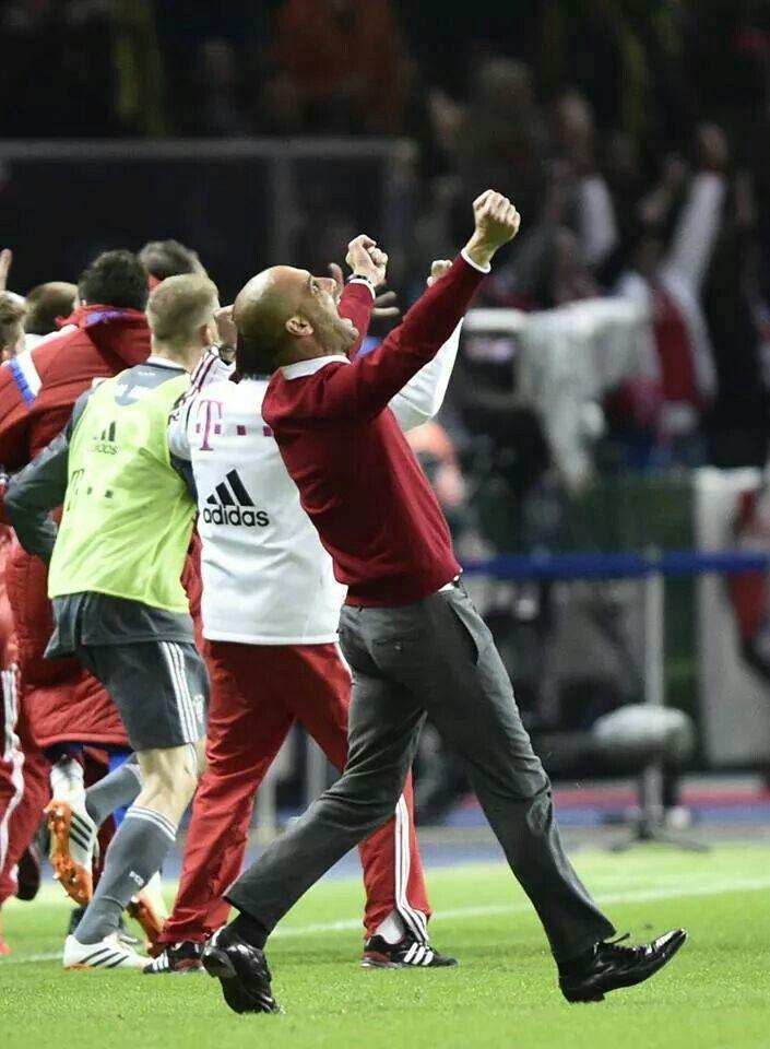 FC Bayern München DFB Pokal Finale 2014 Pep Guardiola