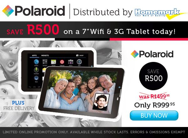 Polaroid 7inch 3G tablet only R999