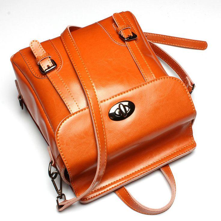 Mochilas modernas pequeñas marrón para jóvenes bolsos de marca rebajados