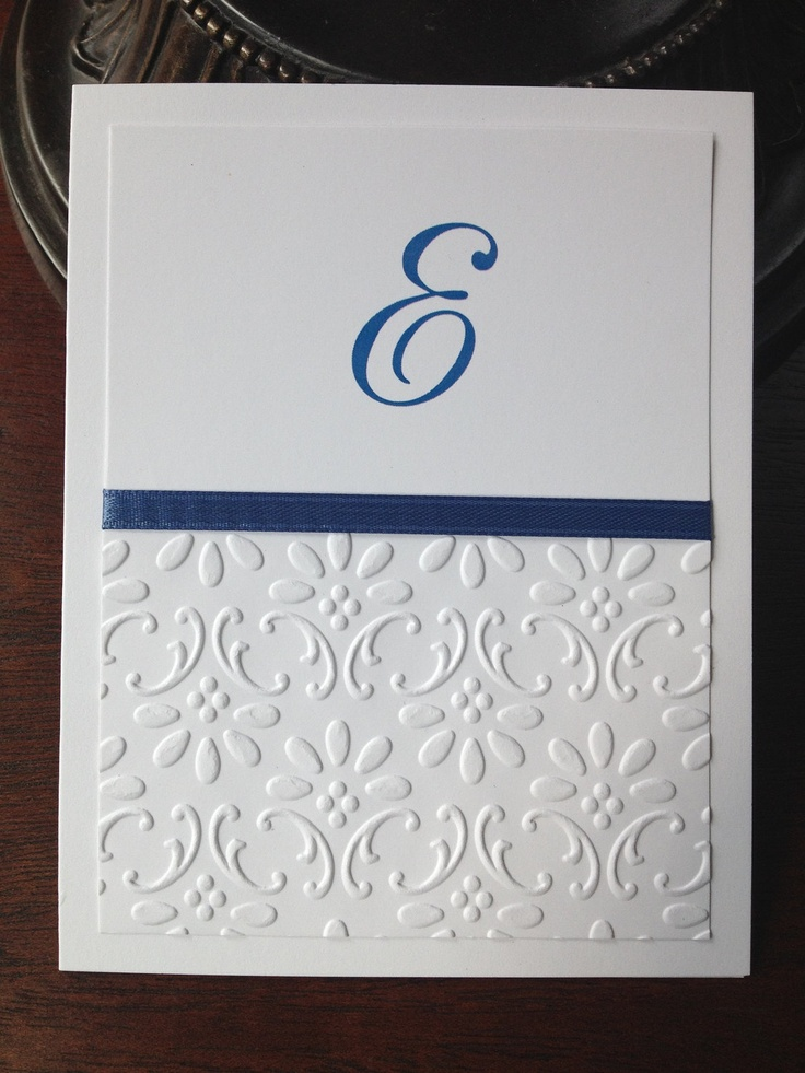 Embossed stationery paper