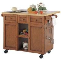 Adams Kitchen Cart with Granite Cutting Board