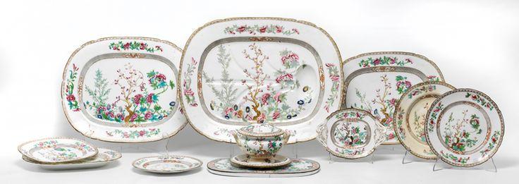Vajilla en porcelana china vidriada y esmaltada siguiendo for Modelos de vajillas