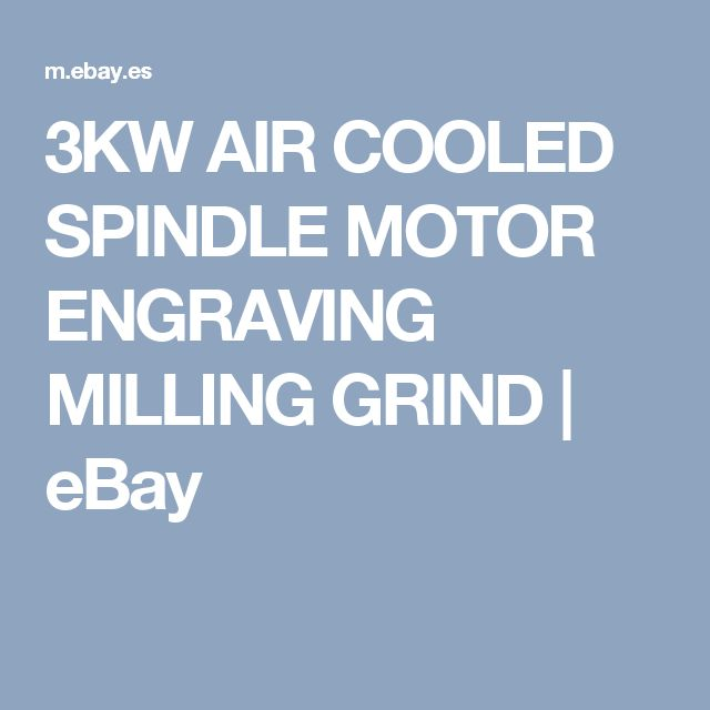 3KW AIR COOLED SPINDLE MOTOR ENGRAVING MILLING GRIND | eBay