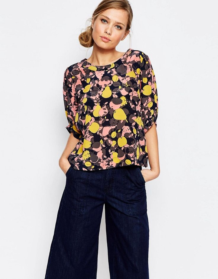 Image 1 of See By Chloe Abstract Printed Short Sleeve Blouse