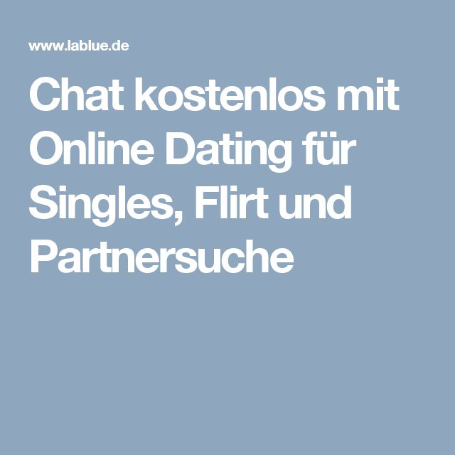 kostenlose single chats onlinedating