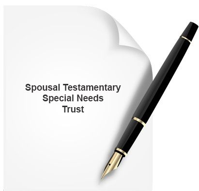 A spousal testamentary special needs trust protects assets for the surviving spouse from being counted by Medicaid. It is embedded into a will as a testamentary trust and becomes active upon the death of the grantor, so that the surviving spouse is not considered to be the actual owner of the assets named in the Trust. www.notary.net/websites/notaryroundrock