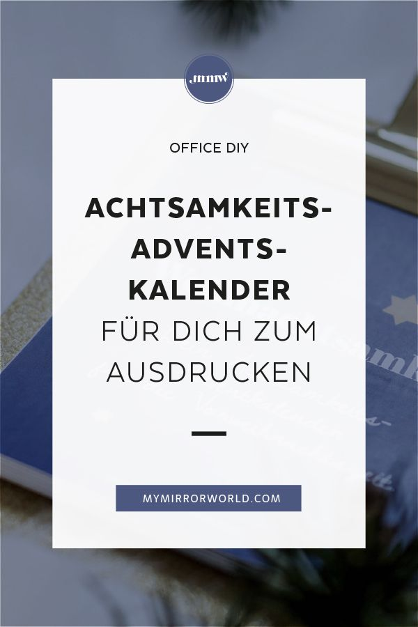 DIY Achtsamkeits-Adventkalender