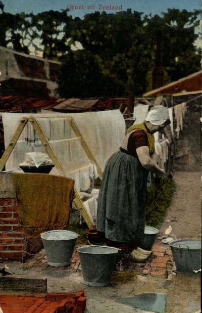 Washing Day in the old days, the Netherlands