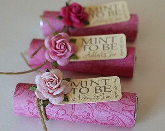 Mint wedding Favors Set of 50 mint rolls by BabyEssentialsByMel