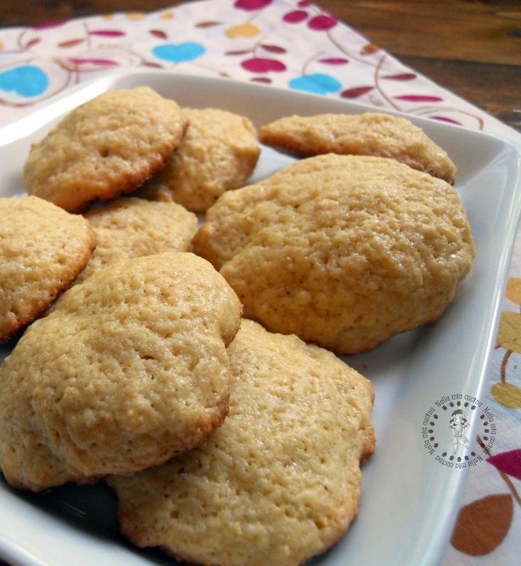 Nella mia cucina.  Biscotti al burro d'arachidi.