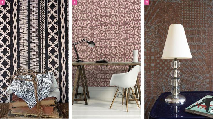 17 best images about decoration on pinterest manzanita felt art and fabrics - Papier peint ethnique ...