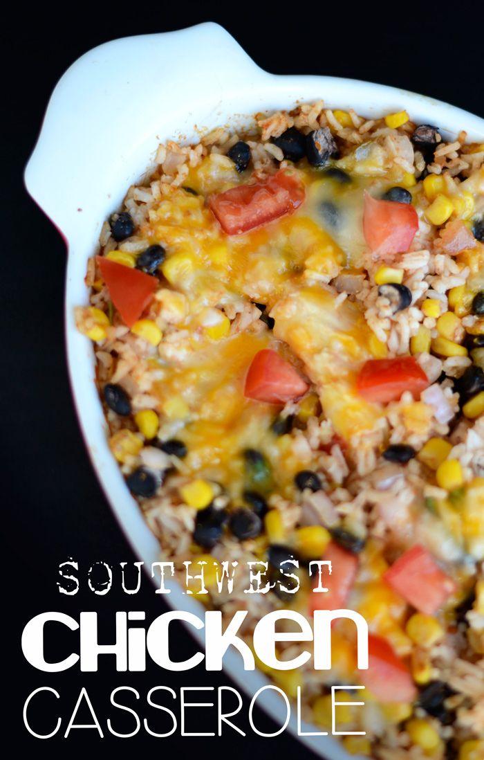 Southwest Chicken Casserole #glutenfree #fitfluential