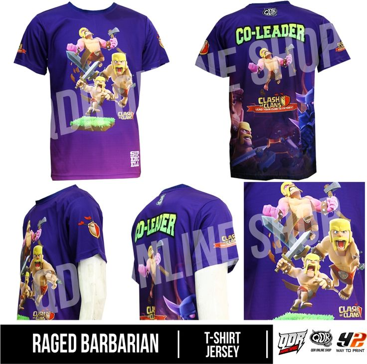 Raged Barbarian Jersey (Jersey Clash of CLans) Bahan: Dry-fit printing: sublimasi untuk pemesanan: BBM D5443117 / 5A2ADBAE (Qdr online shop) WA/LINE 081222970120 / 081294340251