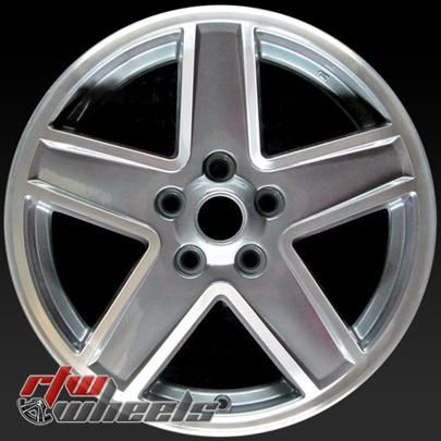 """Jeep Compass oem wheels for sale 2007-2010. 17"""" Machined Charcoal rims 9069 - https://www.rtwwheels.com/store/shop/17-jeep-compass-oem-wheels-for-sale-machined-charcoal-rims-9069/"""