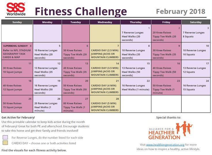 The  Best Fitness Calendar Ideas On   Workout