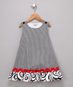 Sew Childish black gingham dress Más