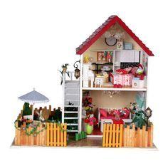 Купить товарБесплатная доставка Diy кукольный дом ручной работы деревянный дом игрушки Diy подарки на день рождения 3D кукольный дом для взрослых любителей и детей в категории Кукольные домикина AliExpress. Бесплатная доставка DIY дом куклы ручной работы Деревянный Дом игрушки DIY день рождения подарки 3D Кукольный дом дл