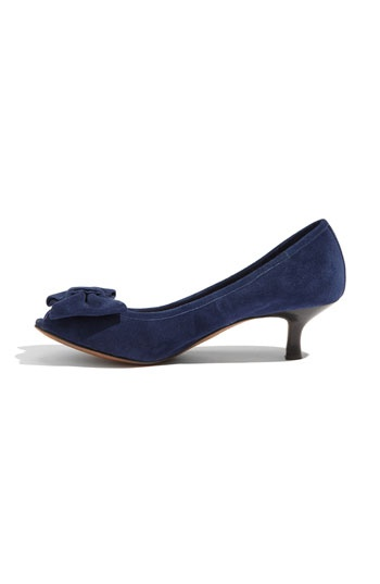 Navy kitten heels!