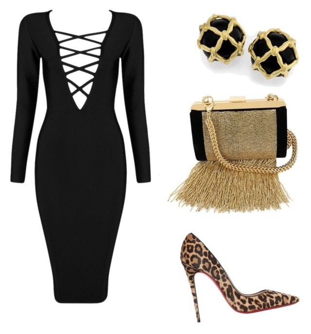 """""""Night Out"""" by doubleblonded on Polyvore featuring Posh Girl, Balmain and Christian Louboutin"""