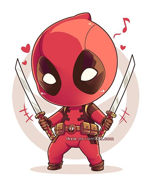 Chibi Deadpool by Iksia.deviantart.com on @DeviantArt - Visit now to grab yourself a super hero shirt today at 40% off!