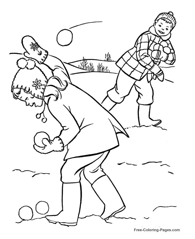 Winter Colouring Pictures For Children - AZ Coloring Pages