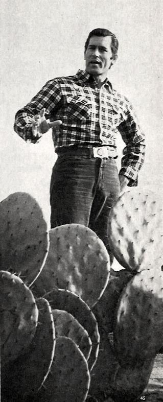 Clint talks among the cacti.