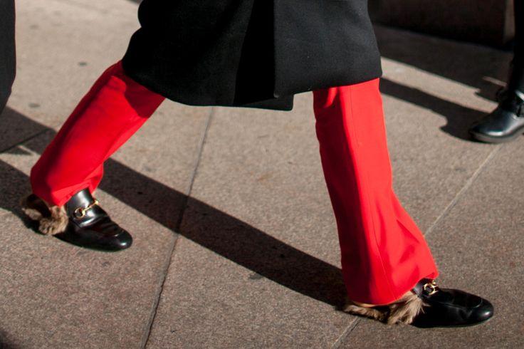 Gucci Fur Loafers Milan Men's Fashion