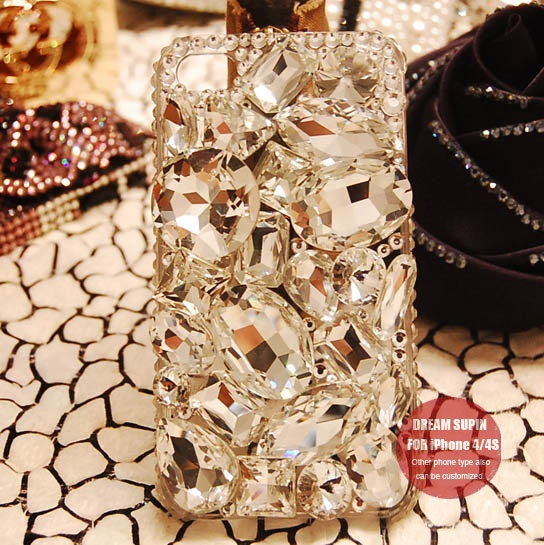 Jewel assemble phone cover crystal iPhone case for iPhone4/4S