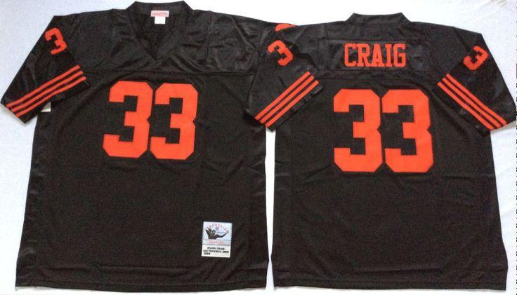 ... 49ers 33 Roger Craig Black Throwback Jersey nfl throwback jerseys sale  on www.caroljerseyshop. Limited RedBlack Womens San Francisco ... 8592967a5