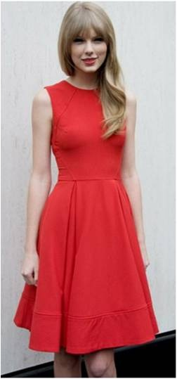 Taylor Swift in ASOS midi dress with full skirt