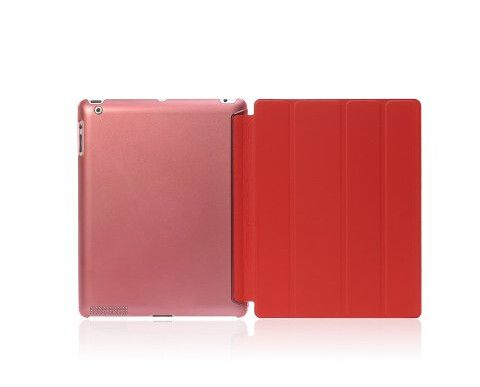 Ipad Cover, Ultra Slim Four Fold PU Leather with Crystal Hard Back Smart Stand Case Cover for iPad 2 iPad 3 iPad 4