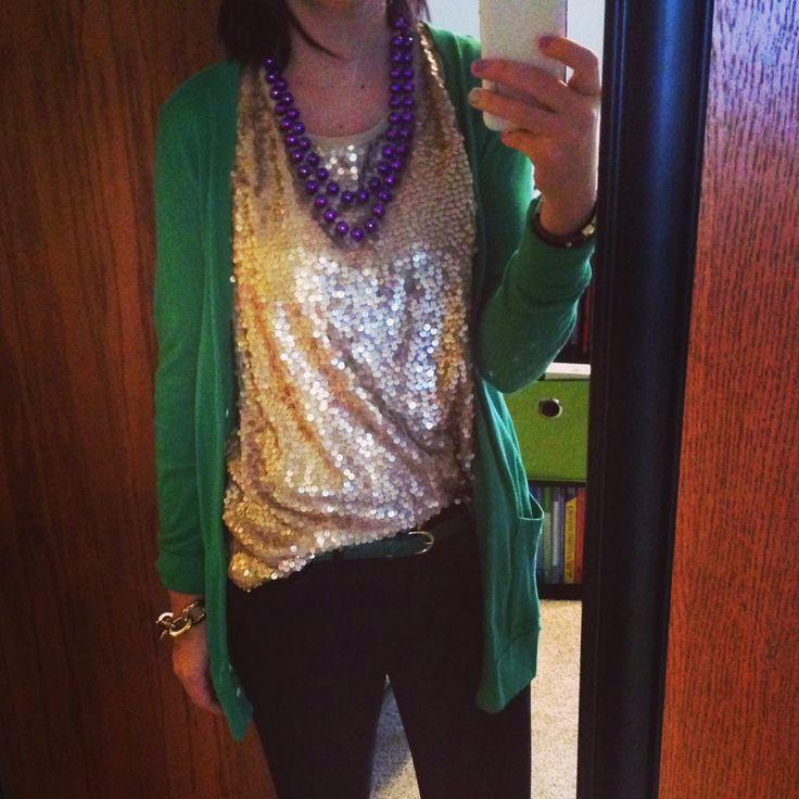 Mardi Gras outfit to wear to work (scheduled via http://www.tailwindapp.com?utm_source=pinterest&utm_medium=twpin&utm_content=post26216516&utm_campaign=scheduler_attribution)