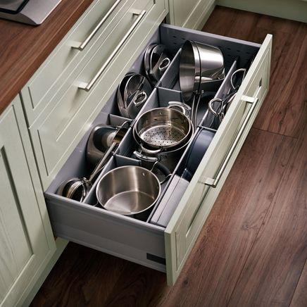 Pan drawer divider kit with pan drawer sides