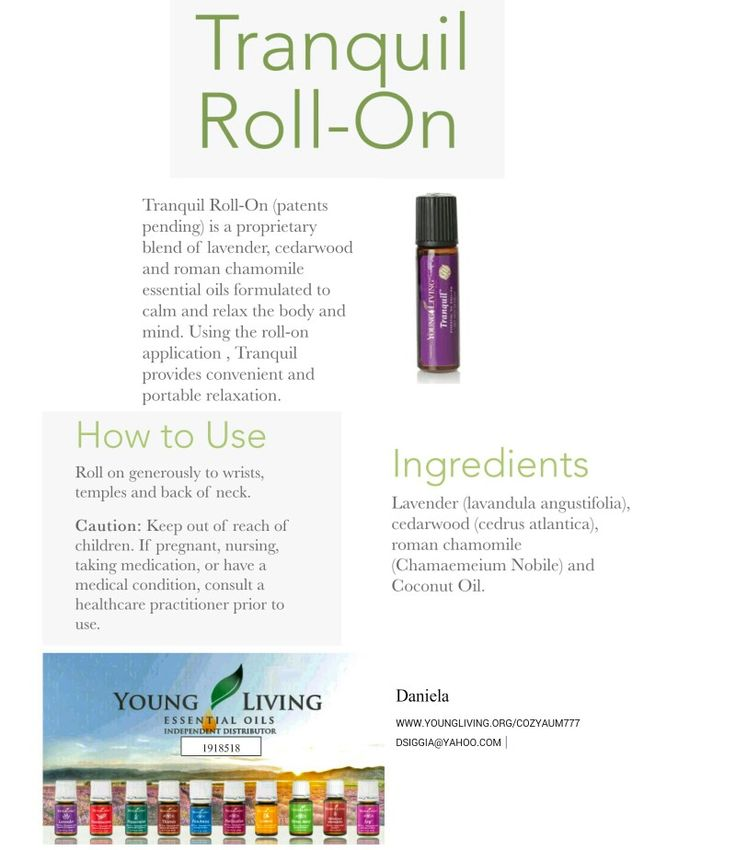 Tranquil Roll On Essential Oil Young Living Essential