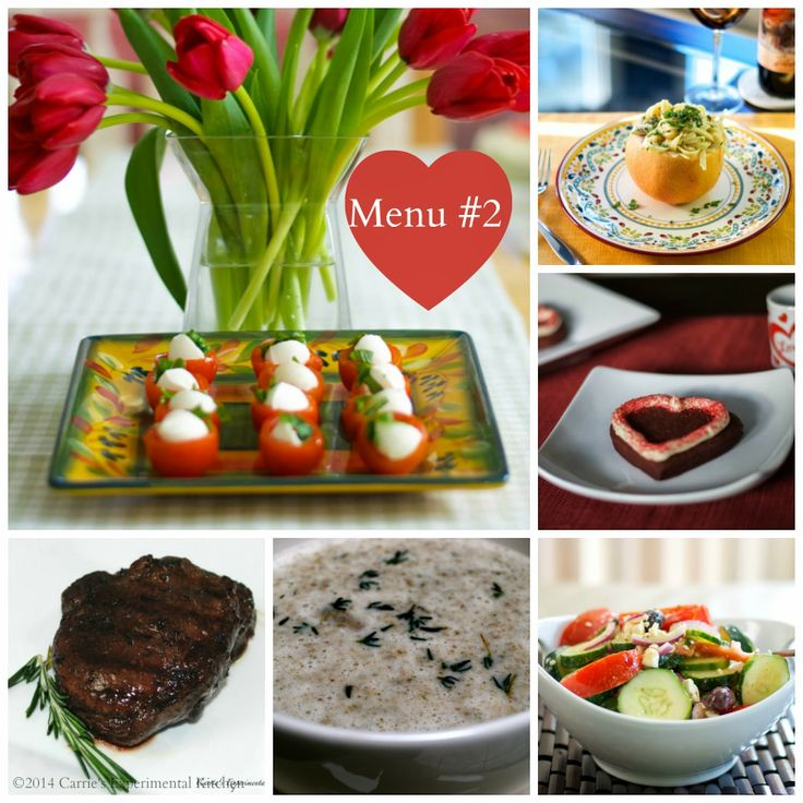 Sample Valentine's Day Menu Ideas