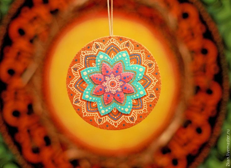 Create a vibrant mandala made of felt